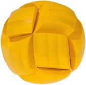 Жълта топка - 3D пъзел от бамбук -