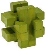 Зелена конструкция - 3D пъзел от бамбук -