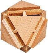 Магическа триъгълна кутия - 3D пъзел от бамбук -
