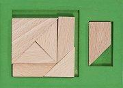"""Extra piece Green - Дървен пъзел от серията """"IQ тест"""" -"""