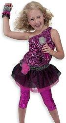 Парти костюм - Рок звезда - Комплект с микрофон - раница