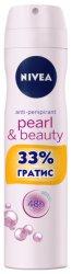 Nivea Pearl & Beauty - Дезодорант против изпотяване с 33% гратис - шампоан