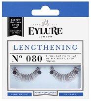 Eylure Lengthening 080 - Мигли от естествен косъм в комплект с лепило - продукт