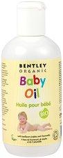 Bentley Organic Baby Oil - Овлажняващо бебешко олио с масла от слънчоглед, жожоба и лайка - мокри кърпички