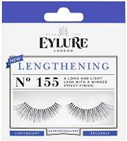 Eylure Lengthening 155 - Мигли от естествен косъм в комплект с лепило - лак