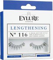 Eylure Lengthening 116 - Мигли от естествен косъм в комплект с лепило -