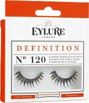 Eylure Definition 120 - Мигли от естествен косъм в комплект с лепило -