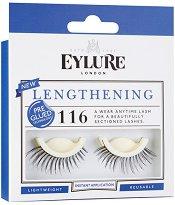 Eylure Lengthening Pre-Glued 116 - Самозалепващи мигли от естествен косъм - маска