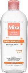 "Mixa Anti-Dryness Micellar Water - Мицеларна вода за суха и чувствителна кожа от серията ""Anti-Dryness"" - балсам"