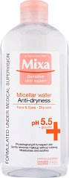 "Mixa Anti-Dryness Micellar Water - Мицеларна вода за суха и чувствителна кожа от серията ""Anti-Dryness"" - душ гел"