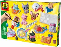 Създай сам гипсови фигурки - Кучета и котки - играчка