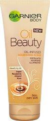 Garnier Body Oil Beauty Nourishing Scrub - Подхранващ скраб за тяло с 4 масла за суха кожа - шампоан