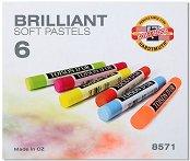 Професионални сухи пастели - Brilliant - Комплект от 6 неонови цвята