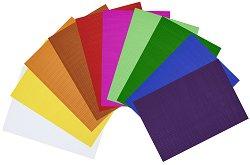 Гофриран картон - различни цветове - С формат A4