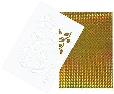 Двуцветен лист EVA пяна - Цветя - Комплект с шаблон