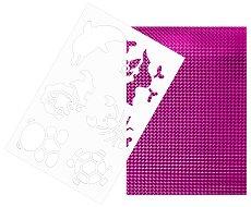 Двуцветен лист EVA пяна - червен и лилав металик Шаблон с животни