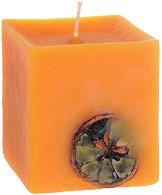 Ароматна свещ с етерично масло от портокал -