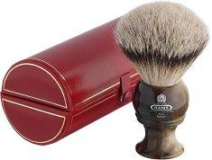 Голяма четка за бръснене с косъм от язовец -