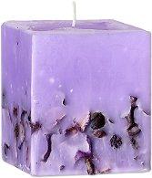 Ароматна свещ с етерично масло от лавандула -