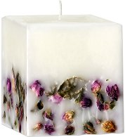 Ароматна свещ с етерично масло от роза - сапун