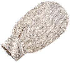 Ексфолираща ръкавица-масажор с лен и памук за сауна или хамам - четка