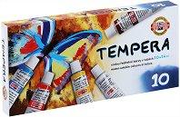 Темперни бои - Комплект от 10 цвята x 16 ml