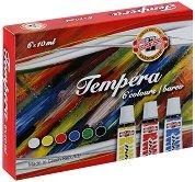 Темперни бои на водна основа - Комплект от 6 цвята x 10 ml