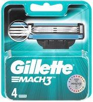 """Gillette Mach 3 Regular - Резервни ножчета в опаковки от 2 ÷ 8 броя от серията """"Mach 3"""" - дезодорант"""