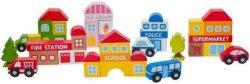 Дървен конструктор - Град - Образователна играчка - играчка