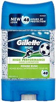 Gillette Power Rush Antiperspirant - Део гел против изпотяване с микрогранули - крем