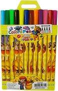 Флумастери - Мечо Пух - Комплект от 12 цвята