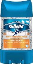 Gillette Sport Triumph Antiperspirant - Део гел против изпотяване с микрогранули - паста за зъби