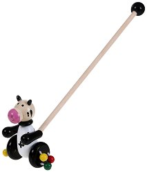Кравичка - Дървена играчка за бутане -