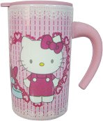 Порцеланова чаша с капаче - Hello Kitty -