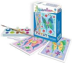 Оцветявай с акварелни бои - Пеперуди - играчка