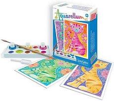 Оцветявай с акварелни бои - Котенца - творчески комплект