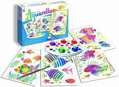 Оцветявай с акварелни бои - Аквариумни рибки - детски аксесоар