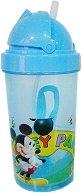 Детска чаша със сламка - Мики Маус -