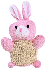 Детска гъба за баня - Зайче - крем