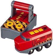 Локомотив с дистанционно управление - Детска играчка със светлинни и звукови ефекти - топка
