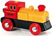 Класически локомотив - Детска играчка със светлинни ефекти - играчка