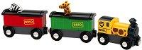 Влак превозващ животни - Детска дървена играчка - играчка