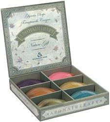 Подаръчен комплект - Ароматерапия - Глицеринови сапуни в кутия с 6 или 12 броя - лак