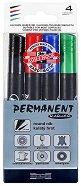 Перманентни маркери с объл връх - Комплект от 4 маркера