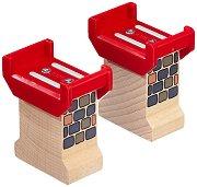 Подпори за мост - Дървени играчки за разширение на релсов път - играчка