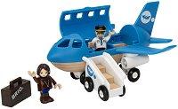 Самолет - Детска дървена играчка - играчка