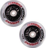 Резервни колела за ролери - Flashing 80 x 24 mm - Комплект от 2 броя -