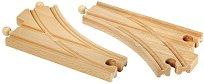 Релсови разклонения за влак - Дървени играчки за разширение на релсов път - играчка