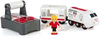 Пътнически влак с дистанционно управление - Детска играчка със светлинни и звукови ефекти - играчка