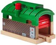 Депо за влакове - Детска дървена играчка - играчка